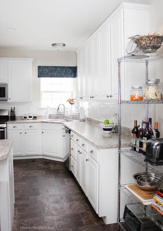 kitchen white subway tile backsplash