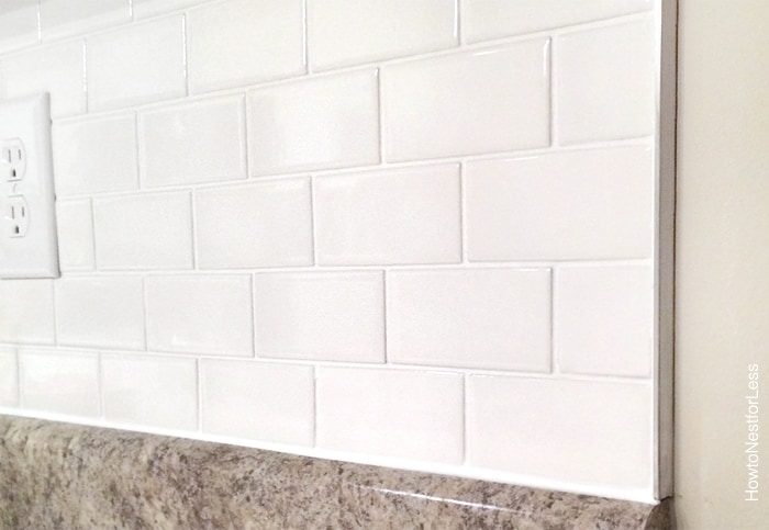 Kitchen Backsplash Edge how to install a kitchen backsplash - the best and easiest tutorial