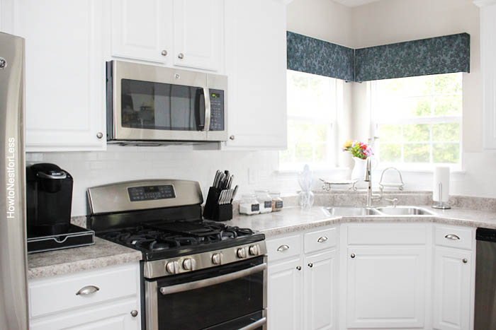 kitchen white subway tile