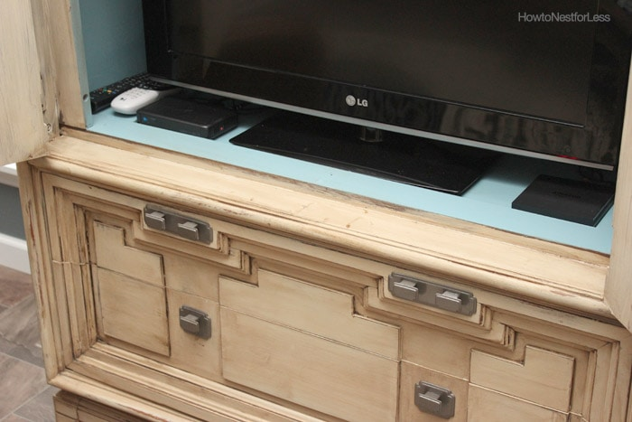 painted armoire tv cabinet