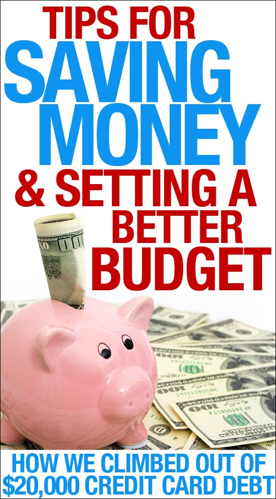 More Tips for Saving Money and Setting a Budget