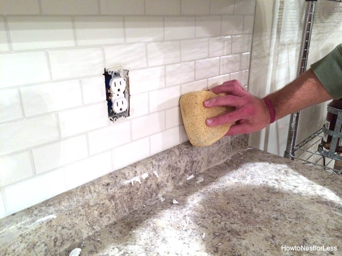 white subway tile backsplash tutorial