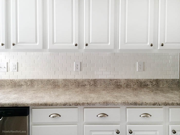 How to install a kitchen backsplash the best and easiest tutorial white subway tile kitchen backsplash ppazfo