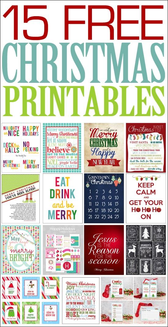 15 Christmas FREE Printables