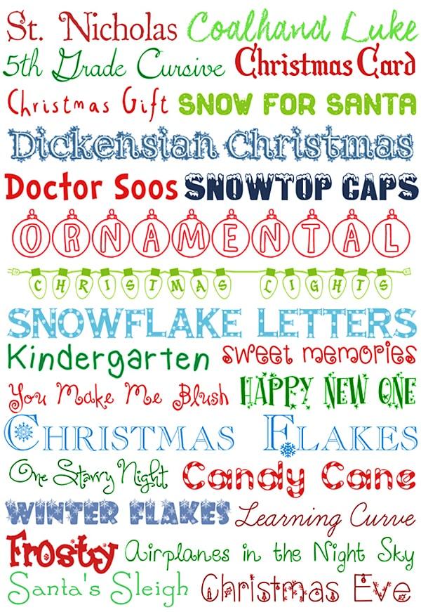 25 Christmas Fonts