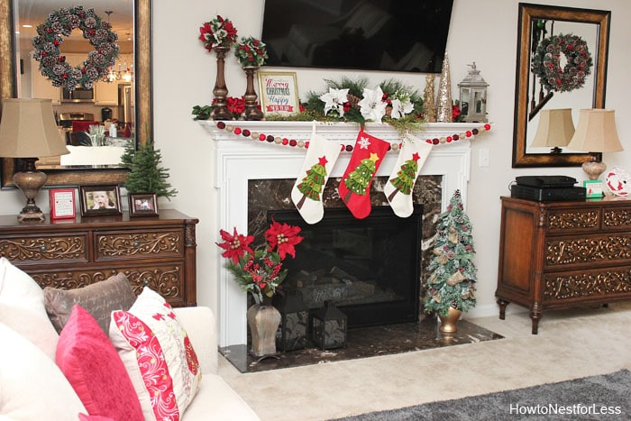 christmas family room decorations