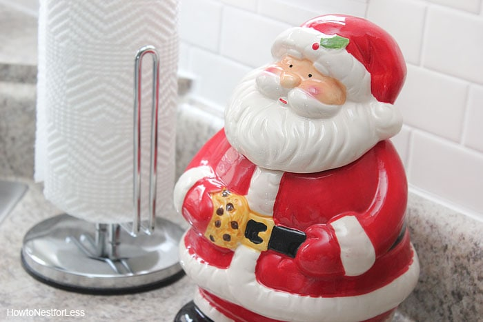 christmas kitchen cookie jar