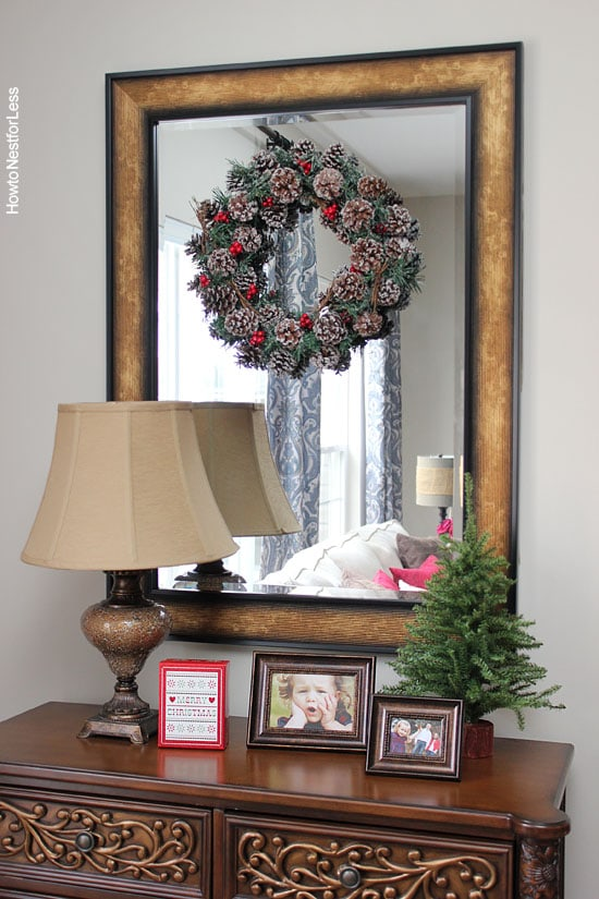christmas wreath decorations family room