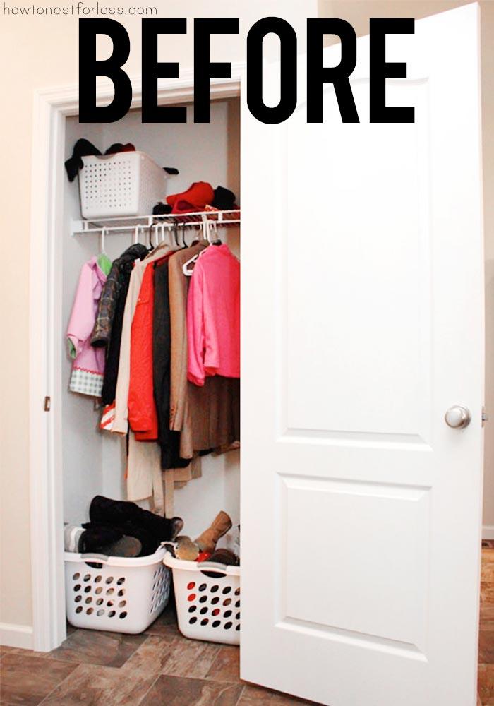 Coat Closet Organization Makeover