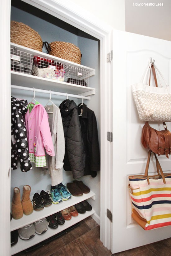 Superbe Coat Closet Organization