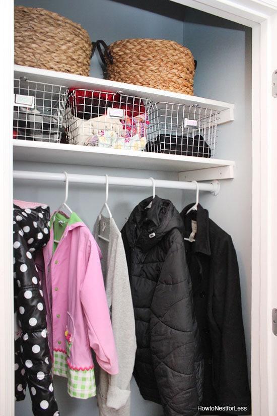 coat closet organize