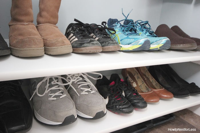 coat closet shoe shelves
