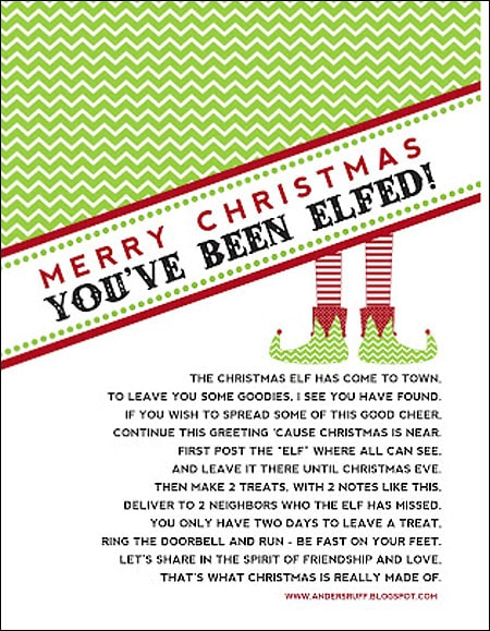 elved christmas flyer
