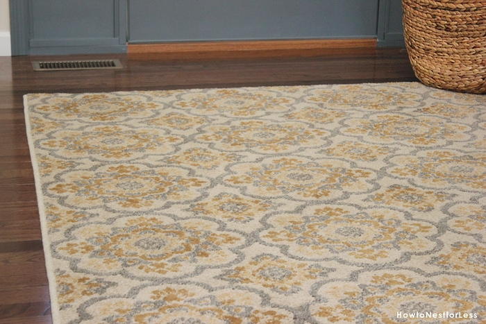 entry foyer medallion rug