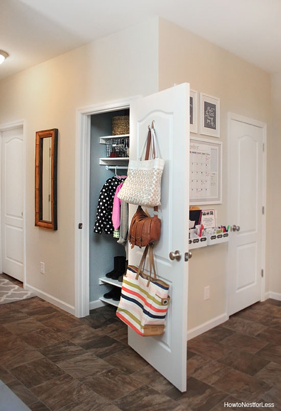 Foyer Closet Organization : Organized coat closet makeover how to nest for less™