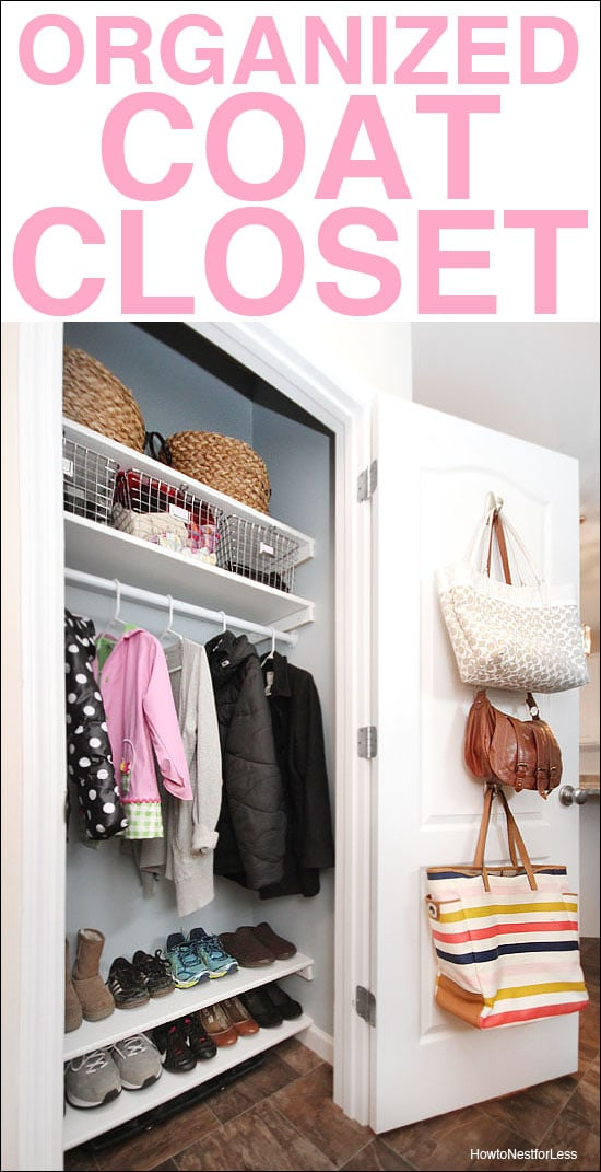 Organized Foyer Coat Closet MAKEOVER