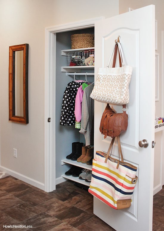 Small Foyer With Closet : Organized coat closet makeover how to nest for less™