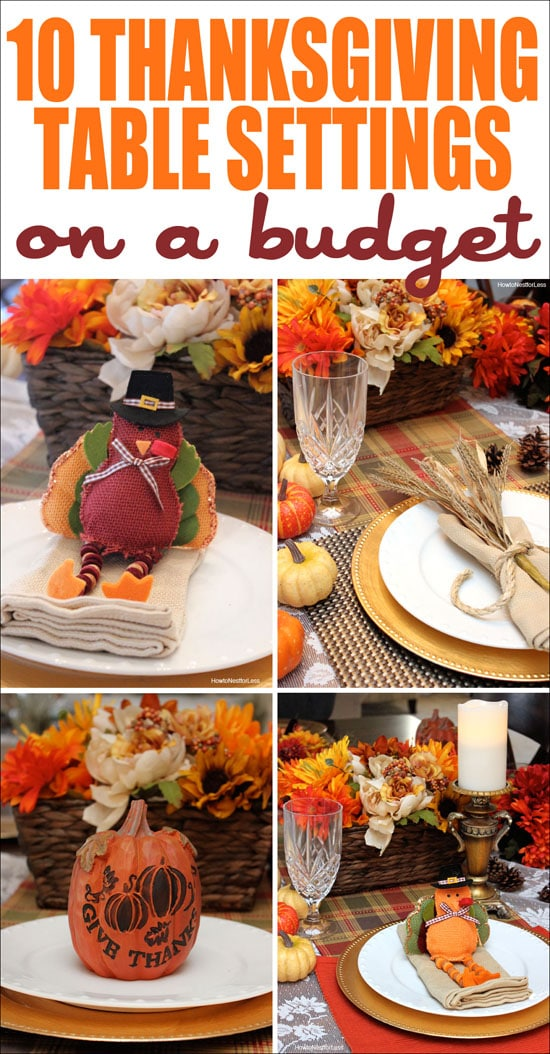 thanksgiving tbale settings on a budget