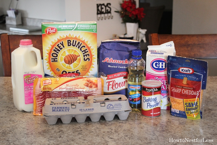 bacon cheddar muffins ingredients
