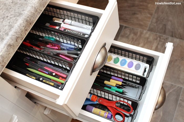 desk supplies organization
