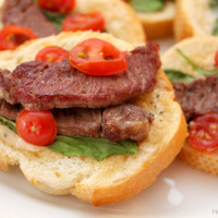 Steak Bruschetta Appetizer