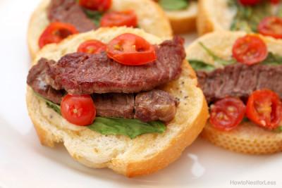 Steak Bruschetta Appetizer