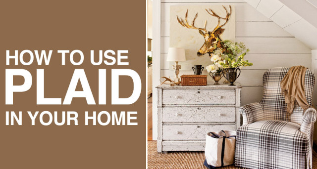 how to use plaid in your home