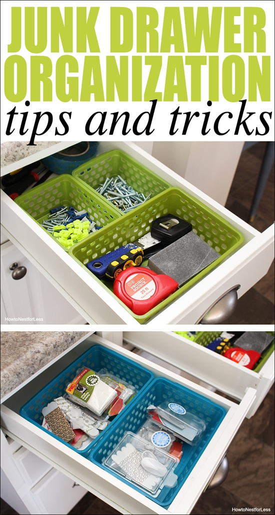Tips And Tricks For Being Organized: Junk Drawer Organization
