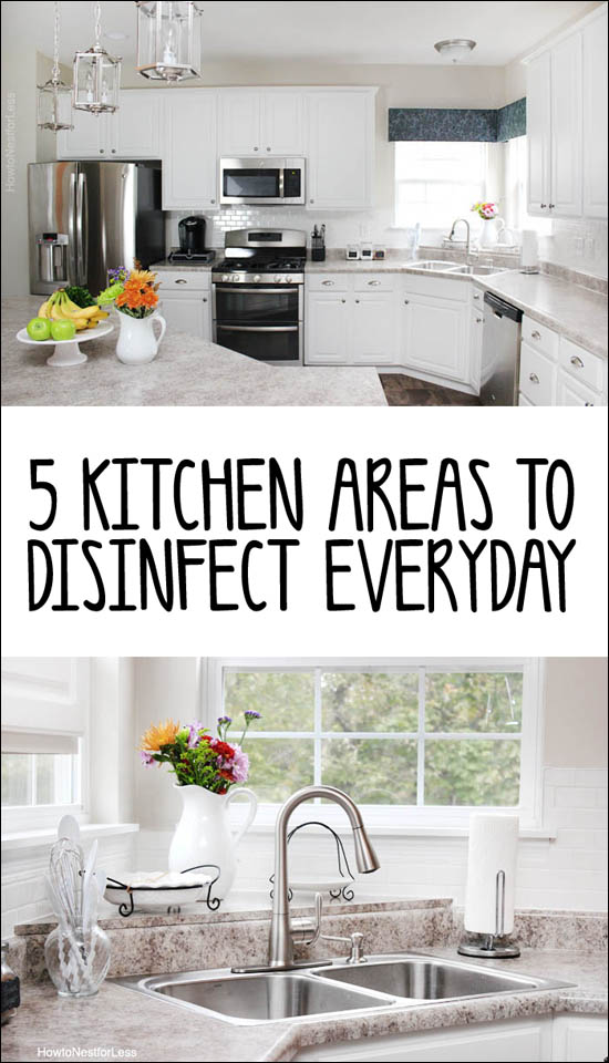 kitchen areas to clean everyday