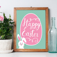 Happy Easter Bunny Printable + Easter Printable BLOG HOP
