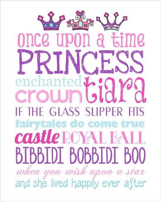 Princess Subway Art Free Printable