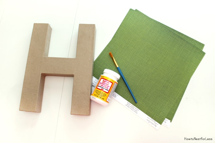 covering paper mache letters with scrapbook paper How to cover wood letters with scrapbook paper pinterest you just mod podge scrapbook paper to paper mache letters you can get at craft stores.