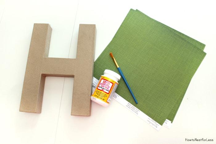 scrapbook paper covered letter