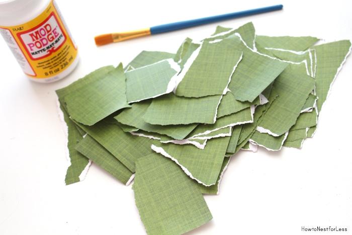 scrapbook paper mache letter
