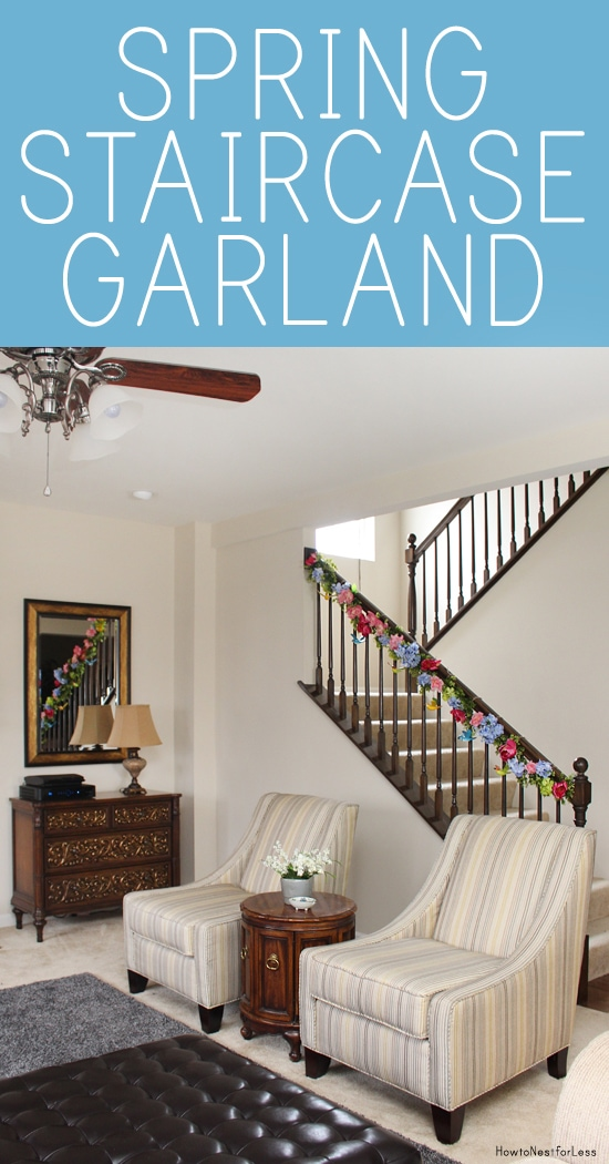 spring staircase flower garland