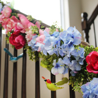 Spring Staircase Garland
