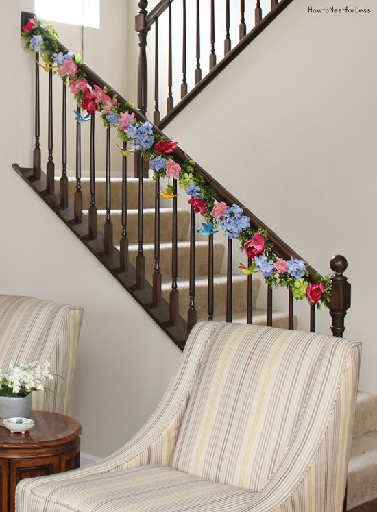 Spring Staircase Garland How To Nest For Less