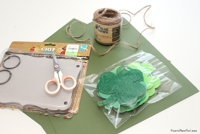 st patricks day banner supplies
