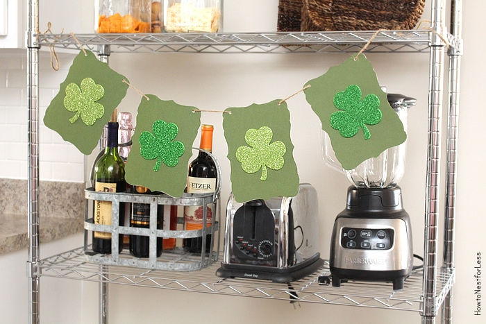 st patricks day clover banner