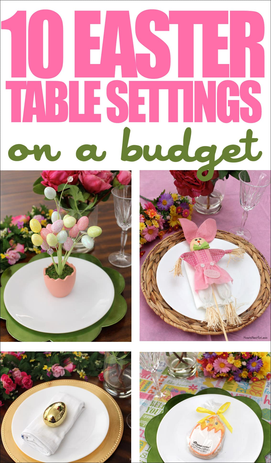 10 easter table settings  sc 1 st  How to Nest for Less & 10 Easter Table Setting Ideas on a Budget - How to Nest for Less™