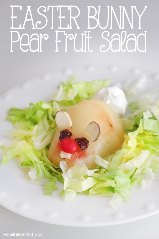 bunny pear fruit salad