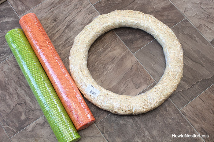 easter carrot mesh wreath