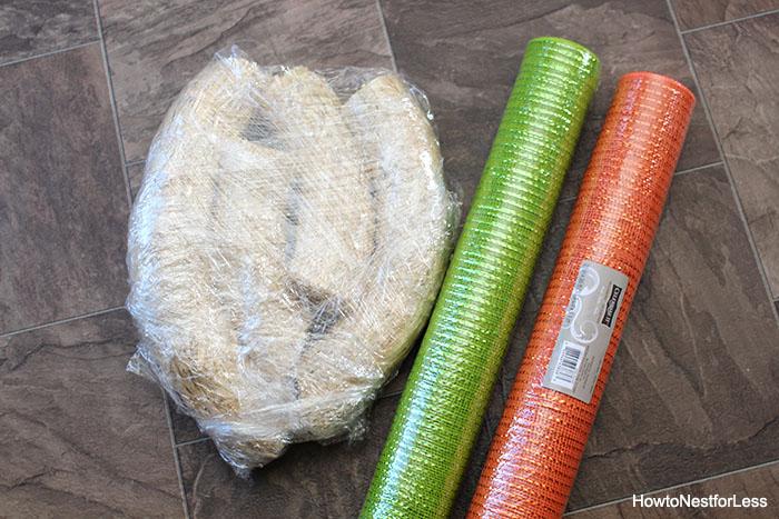 easter carrot mesh wreath tutorial