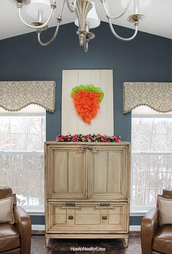 easter carrot mesh wreath