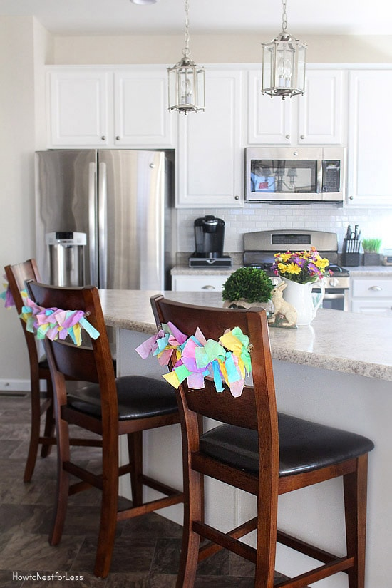 Easter Fabric Scrap Chair Ties