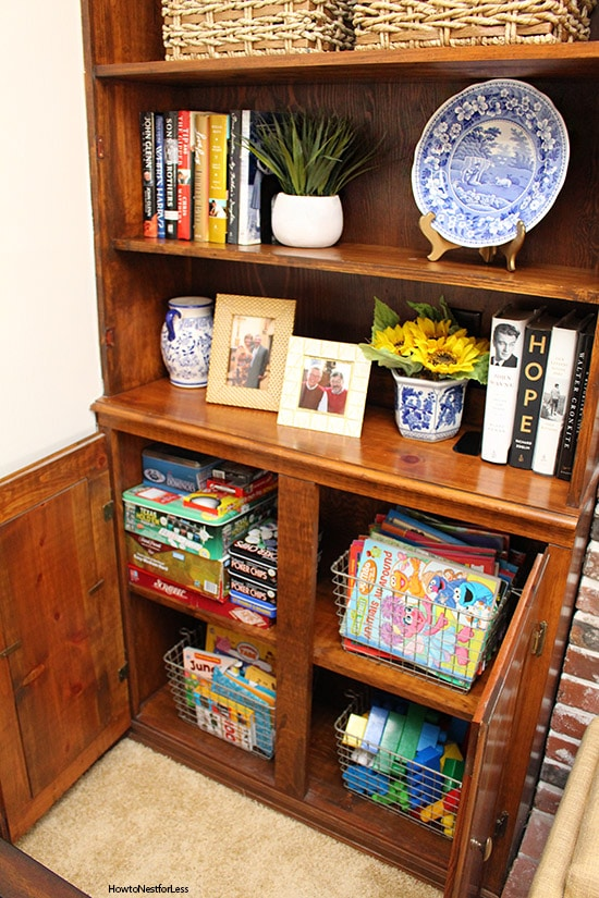 family room storage ideas