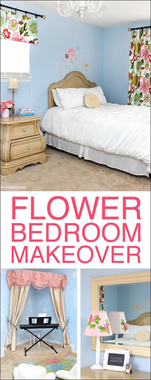 flower bedroom makeover