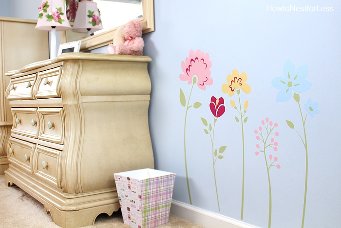 flower girls bedroom stickers