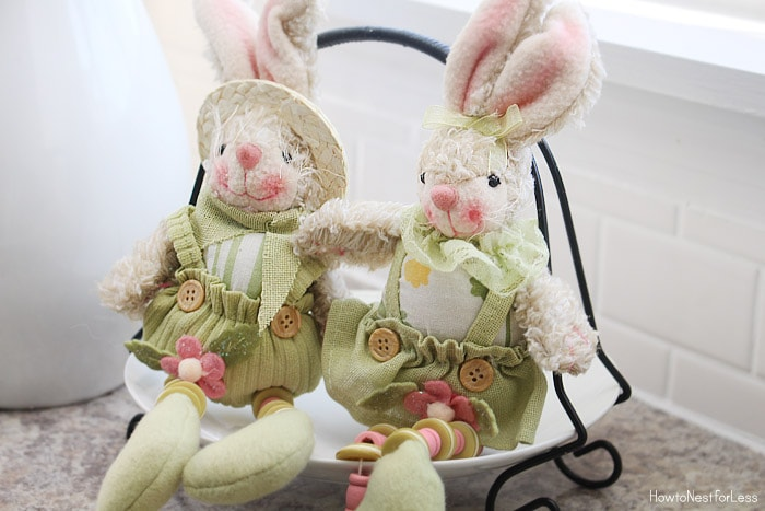 kitchen bunny easter decorations