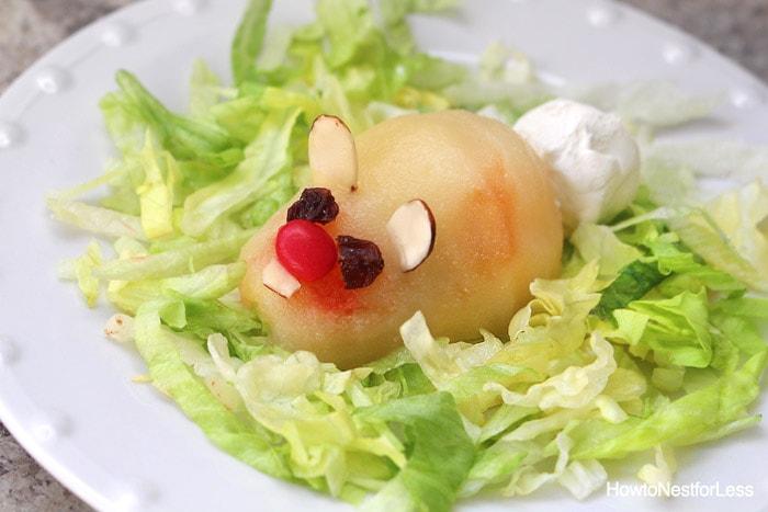 pear dessert easter bunnies